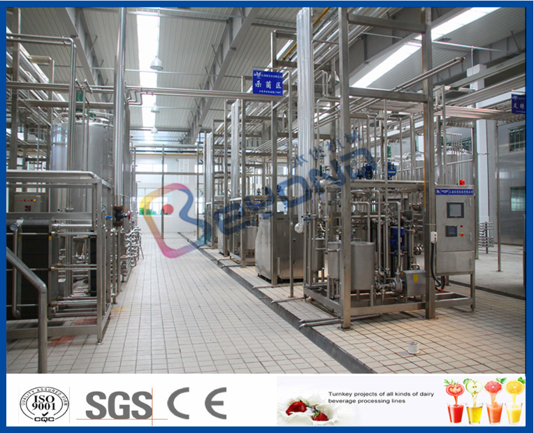 Complete 2000LPH Smart Integrated Dairy Processing Plant 500ml Bottle Filling