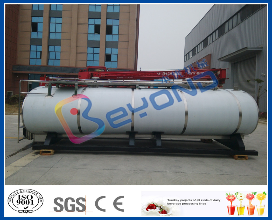 Food Hygiene Grade Stainless Steel Tanks For Milk Long Distance Transportation