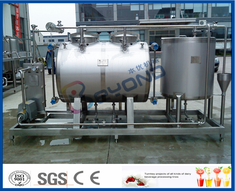 10tph Split Type Semi Auto CIP Cleaning System With SUS304 SS316 Material